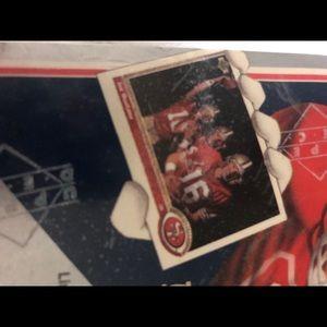 Upper Deck 1991 Football seal box 12 cards per pk